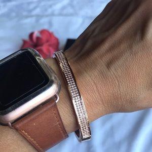 Rose Gold Swarovski bangle bracelet